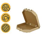 Картонные коробки для пицы 300*300 мм квадратная крафт без углов поштучно трансформер в розницу