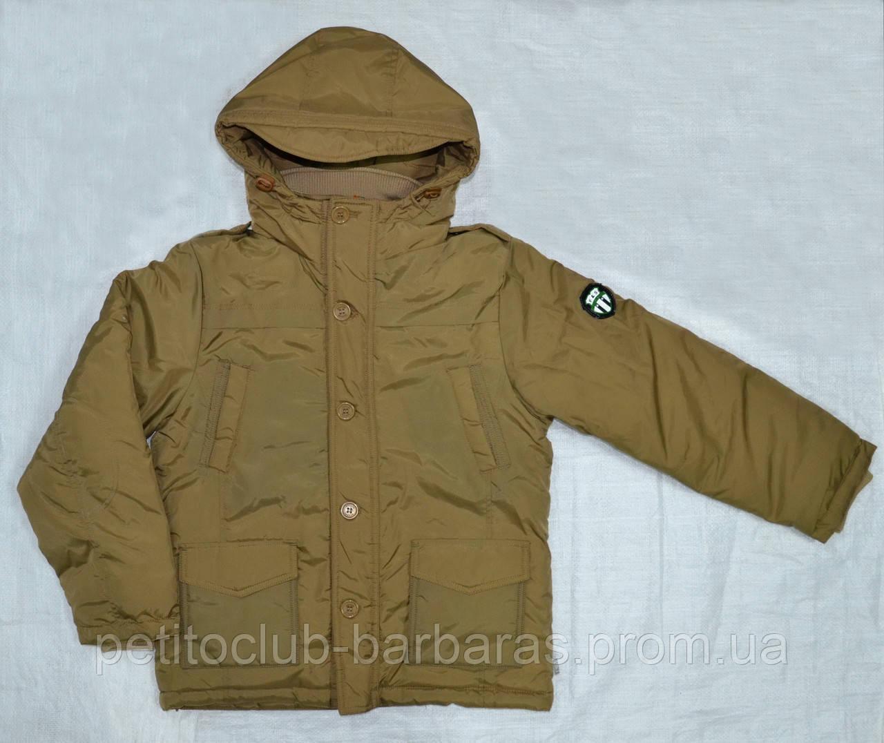 Качественная зимняя куртка для мальчика Mariuzs бежевая (QuadriFoglio, Польша)