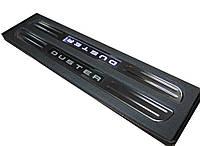 Renault Duster Беспроводные пороги с подсветкой (2 шт, нерж)