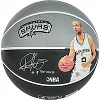 Мяч баскетбольный Spalding NBA Player Tony Parker Size 7, фото 1