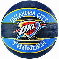 Мяч баскетбольный Spalding NBA Team OC Thunder Size 7, фото 1