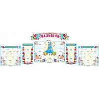 Набор стендов Визитка детского сада Мальвина цветы и бабочки