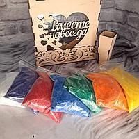 Набор для песочной церемонии Рамка+песок 6 пакетов., фото 1