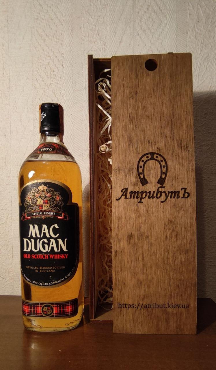 Виски 1970 года Mac Dugan Шотландия