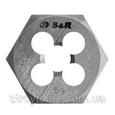 Плашка гексогональная S&R M8x1,2 мм