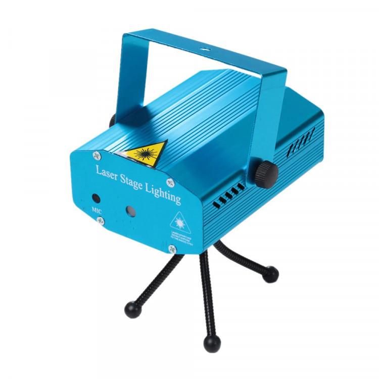 Лазерный проектор с акустическим контролем Laser 4 в 1 HJ08 | Cтробоскоп,  диско лазер