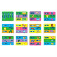 Комплект обучающих шаблонов Gigo для набора английских букв 1401 (1402)
