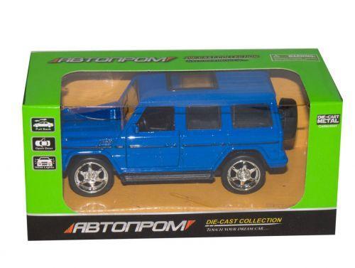 """Машинка """"Mercedes-Benz G-класс"""" из серии """"Автопром"""" (синяя) 7798"""