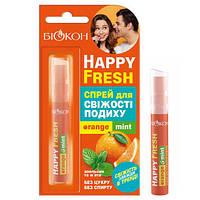 """Спрей для свіжості дихання Біокон Happy Fresh Orange Mint"""" (10мл.)"""
