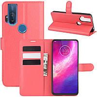 Чехол-книжка Litchie Wallet для Motorola One Hyper Red