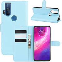 Чехол-книжка Litchie Wallet для Motorola One Hyper Blue