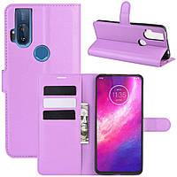 Чехол-книжка Litchie Wallet для Motorola One Hyper Violet