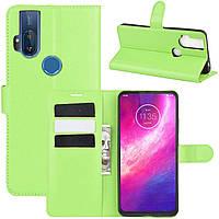 Чехол-книжка Litchie Wallet для Motorola One Hyper Green