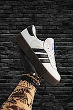 Adidas Samba White Black (Белый)