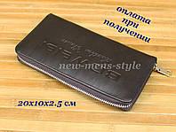 Чоловіча шкіряна барсетка гаманець портмоне клатч BOWESI шкіра з ручкою (2), фото 1
