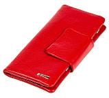 Женский кошелек клатч Butun 638-004-006 кожаный красный, фото 2