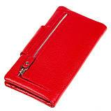 Женский кошелек клатч Butun 638-004-006 кожаный красный, фото 3