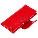 Женский кошелек клатч Butun 638-004-006 кожаный красный, фото 4