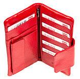 Женский кошелек клатч Butun 638-004-006 кожаный красный, фото 5