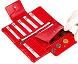 Женский кошелек клатч Butun 638-004-006 кожаный красный, фото 6