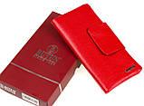 Женский кошелек клатч Butun 638-004-006 кожаный красный, фото 8