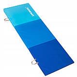 Мат гимнастический складной Springos 180 x 60 x 5.5 cм FA0063 Blue, фото 2