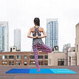 Мат гимнастический складной Springos 180 x 60 x 5.5 cм FA0063 Blue, фото 3