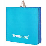 Мат гимнастический складной Springos 180 x 60 x 5.5 cм FA0063 Blue, фото 8
