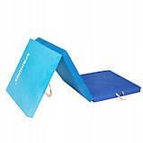 Мат гимнастический складной Springos 180 x 60 x 5.5 cм FA0063 Blue, фото 10