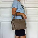 Женская сумка Eminsa 40225-37-17 кожаная бежевая, фото 7