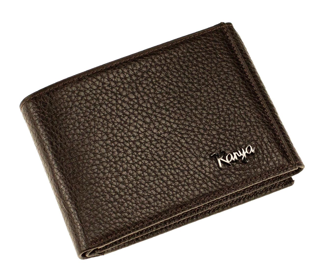 Кошелек зажим для денег Karya 0931-39 кожаный коричневый