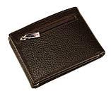 Кошелек зажим для денег Karya 0931-39 кожаный коричневый, фото 2