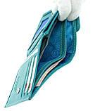 Женский кошелек Butun 590-004-050 кожаный бирюзовый, фото 3