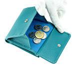Женский кошелек Butun 590-004-050 кожаный бирюзовый, фото 6