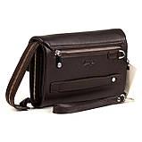 Мужская сумка барсетка Karya 0361-39 кожаная коричневая, фото 5
