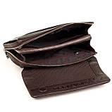 Мужская сумка барсетка Karya 0361-39 кожаная коричневая, фото 7