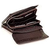 Мужская сумка барсетка Karya 0361-39 кожаная коричневая, фото 8