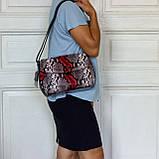 """Женская сумка кожаная BUTUN 3112-038-006 кросс-боди """"под рептилию"""" цветная, фото 8"""