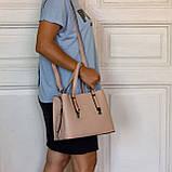 Женская сумка из натуральной кожи Eminsa 40190 розовая пудра, фото 10
