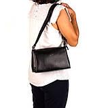 Женская сумка кожаная BUTUN 3104-004-001 кросс-боди черная, фото 6