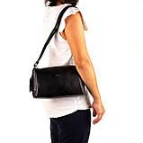 Женская сумка кожаная BUTUN 3104-004-001 кросс-боди черная, фото 7