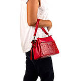 Женская сумка Karya 2134-018 кожаная красная, фото 9