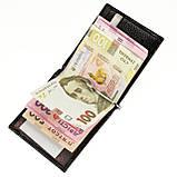 Зажим для денег кожаный черный Karya 0455-53, фото 4