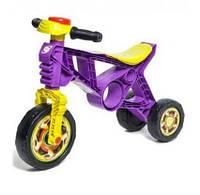 Дитячий байк беговел толокар для дітей 3 колеса у вигляді велосипеда для штовхання ногами ORION Фіолетовий