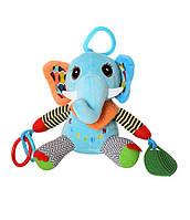 Игрушки погремушки подвески на коляску для новорожденных , для младенцев 82804E (Слоник)