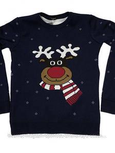 Детский новогодний свитер  оленем