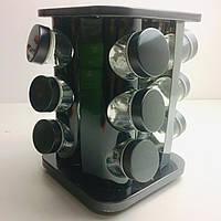 Набор для специй Benson на вращающейся подставке 12 баночек Серебристый (BN-139-1)