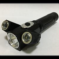 Ліхтар світлодіодний ручної на 3 діода акумуляторний (18650) Police WD-301 оригінал T-6 (2 діода T6/1 діод T5)