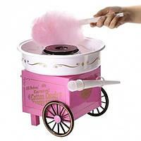 Домашний аппарат машинка для приготовления сладкой ваты дома COTTON CANDY MAKER на колесах CARNIVAL