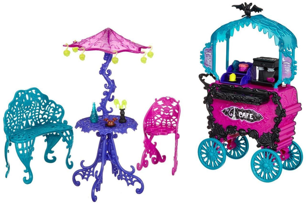 Monster High Передвижное кафе Скариж Город Страхов Scaris Cafe Cart City of Frights